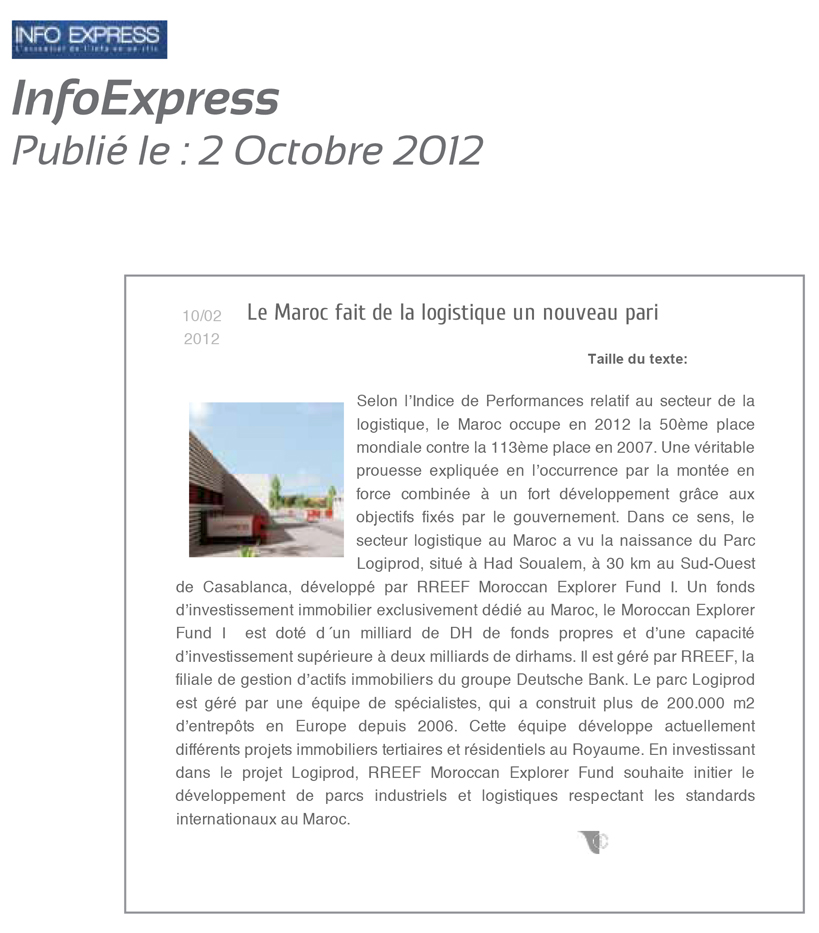 2InfoExpress 2 Octobre 2012